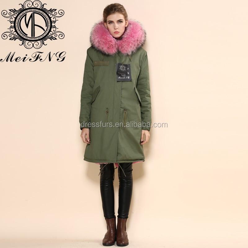 Nieuwste Mode Jassen : Nieuwste mode vrouwen warm parka jassen met roze vos