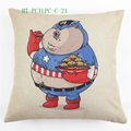 Decorative pillow, sofa cushion Vintage Luxury Linen Photo Print Fancy Cushion Cover Wholesale Pillow Case HT-PCILPC-C-21-28