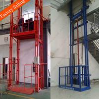Guide rail warehouse lift platform hydraulic freight elevator price