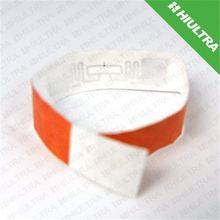 Short distance colorful rfid paper wristband