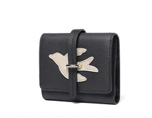 High quality lady wallet coin fashion design genuine leather clutch purse for girls