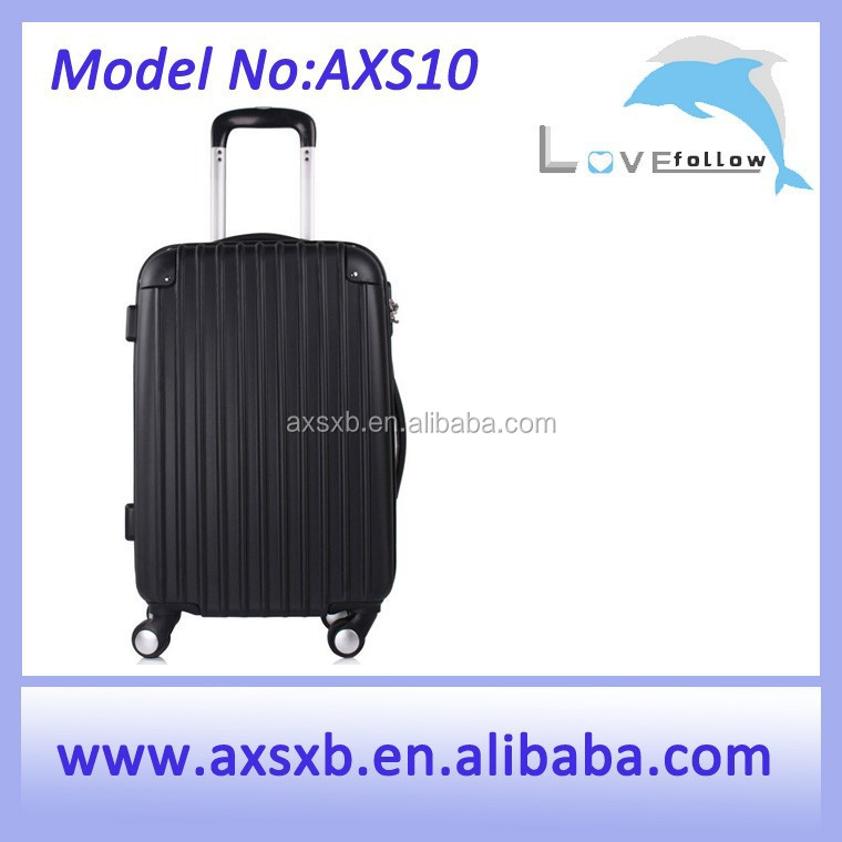 2015 fashionable black trolley colourful travel trolley luggage bag sky travel luggage bag
