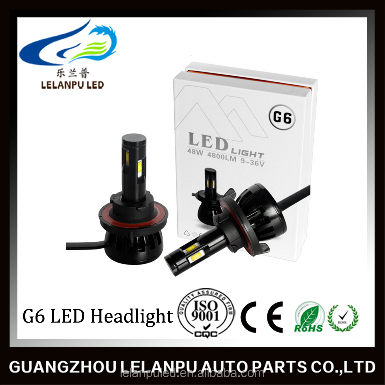 G6 Car LED Headlight H7 H11 9005 9006 H1 H3 H4 5202 9007 9004 H13 880 881 Auto 48W 4800Lm Automobile Driving Headlight Fog Lamp