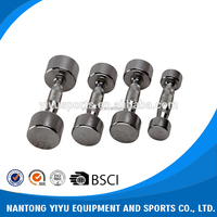 China manufacturer wholesale china gym chrome dumbbell