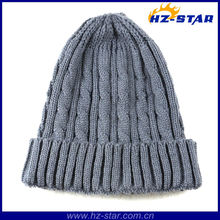 HZM-13246-8 New Knitted Fashion nfl beanies wholesale wholesale grey striped hat