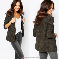 New arrival fancy new look slim lapel ladies blazer designs