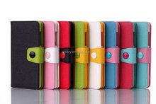 Contrast Color Leather Wallet Case for Sony Xperia Z2