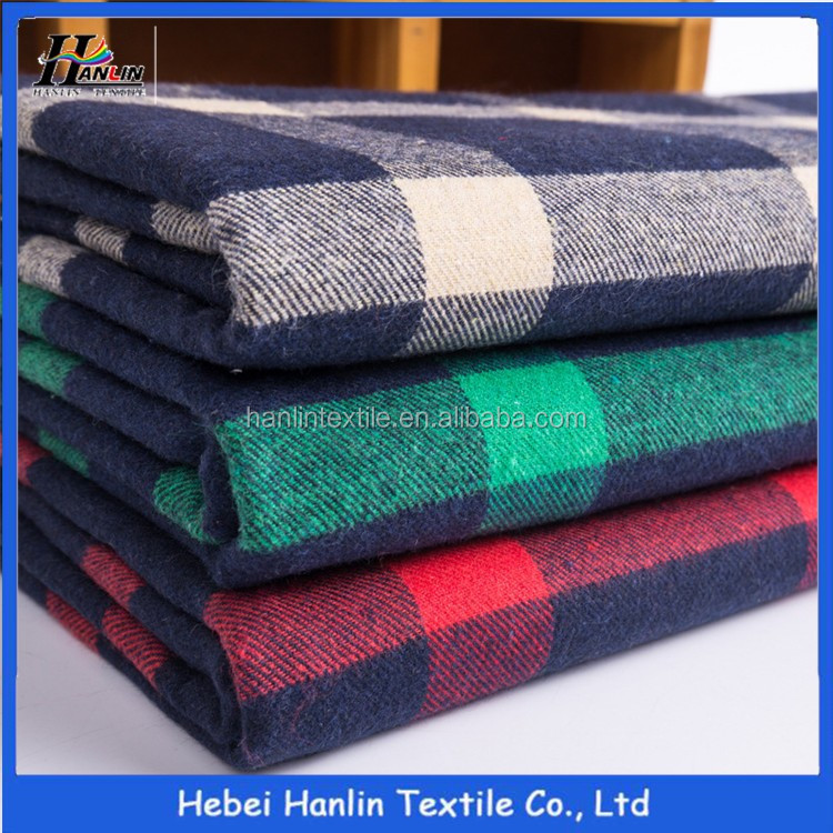 Soft printed 100% cotton waterproof plaid flannel fabric for shirt