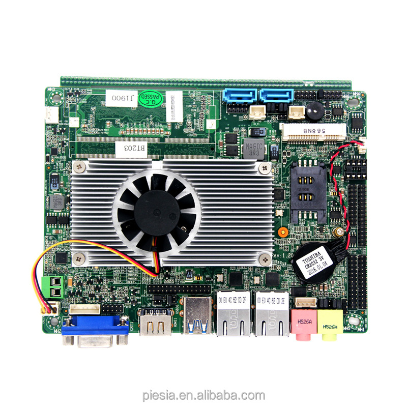 Digital signage player 2 lan motherboard barebone embedded industrial computer Mainboard