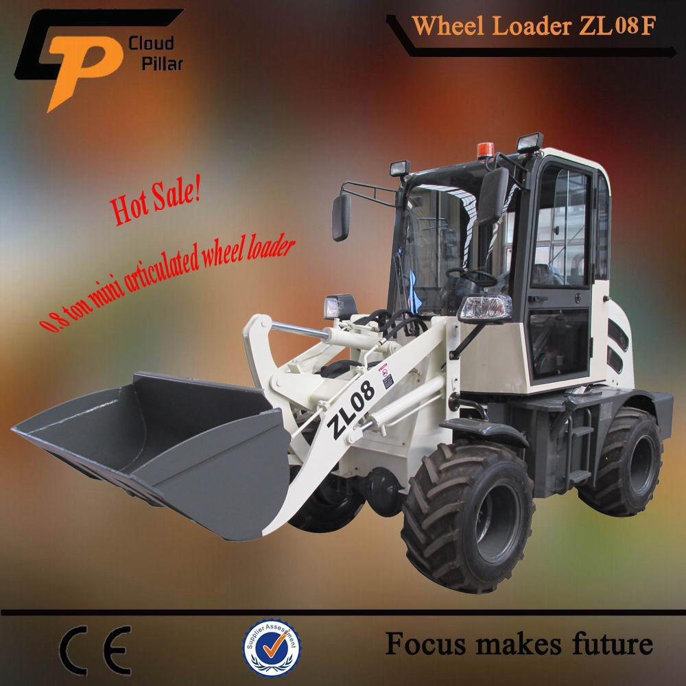 0.8 ton new brand tractor loader mini CP908 weifang wheelloader