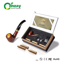 E pipe 618 Pipe Imitate Solid Wood Design Old-fashioned big vapor pipe e cigarette