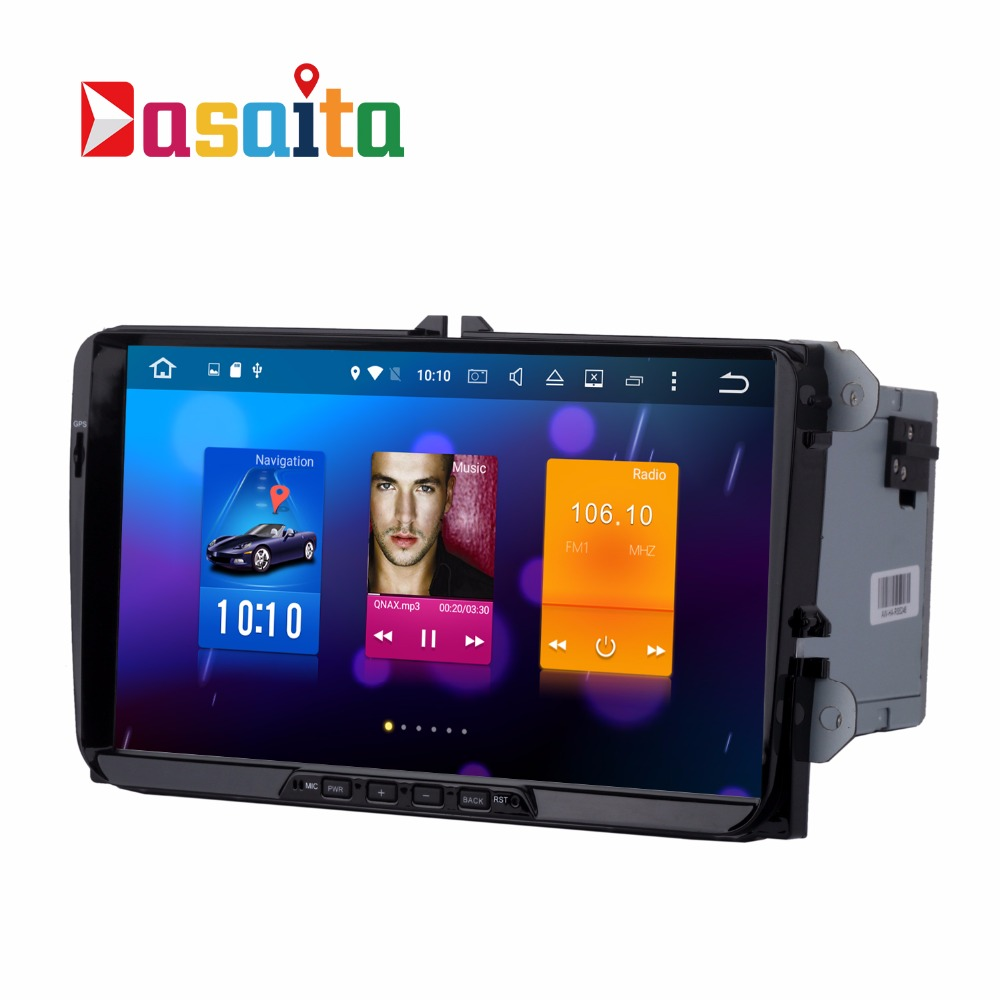 "Dasaita 9"" Android 6.0 Car DVD Player with autoradio radio GPS Navigation touch screen stereo for VW GOLF PASSAT POLO"
