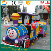 2015 cartoon mini train kiddie rides electric train christmas
