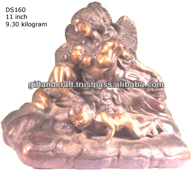 antique finishing color brass statue for wholesale