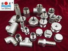 Stainless steel threaded pipe fittings with NPT thread
