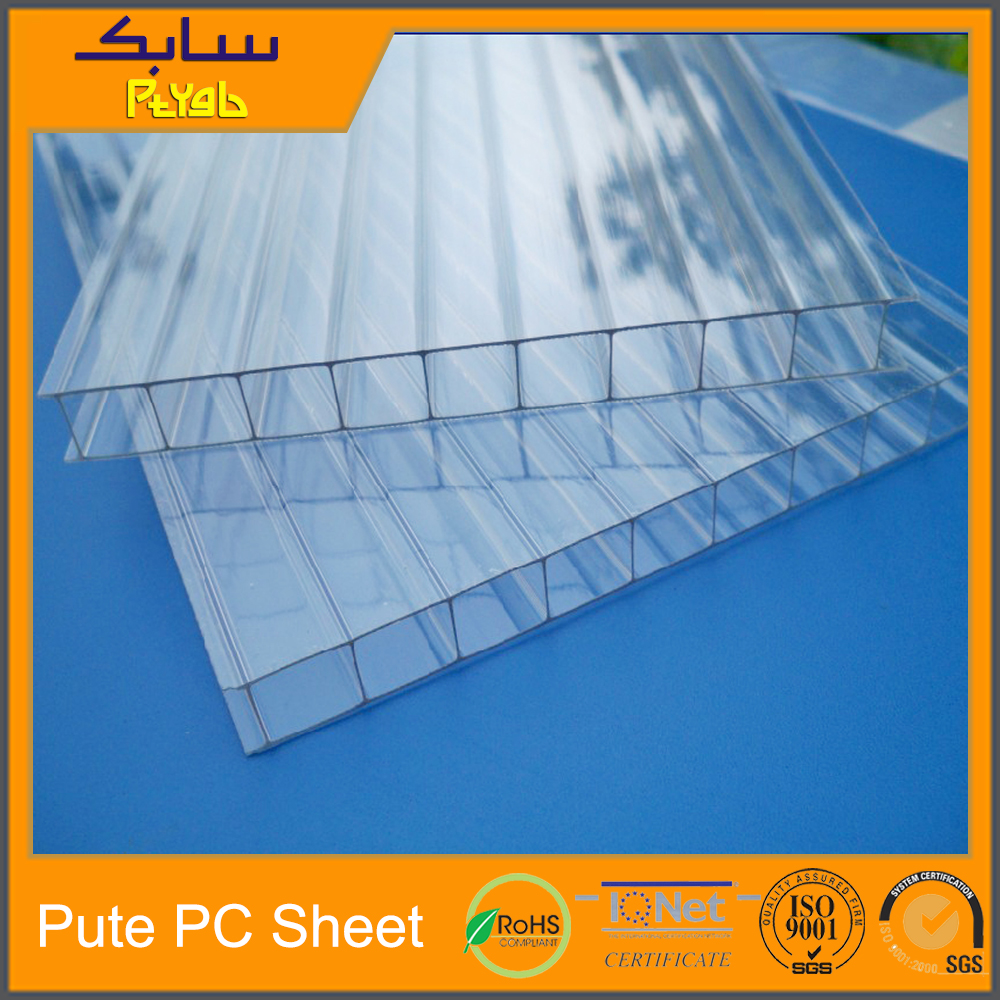 Double wall twinwall 2 layer pc polycarbonate