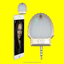 Mobile phone Camera smart Voice control switch lovely Selfie ring light Mini Potable LED Light