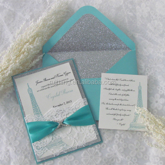 2016 hot sale beautiful glitter wedding invitations with for Inexpensive glitter wedding invitations