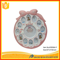 Baby 12 month resin photo frame with clock