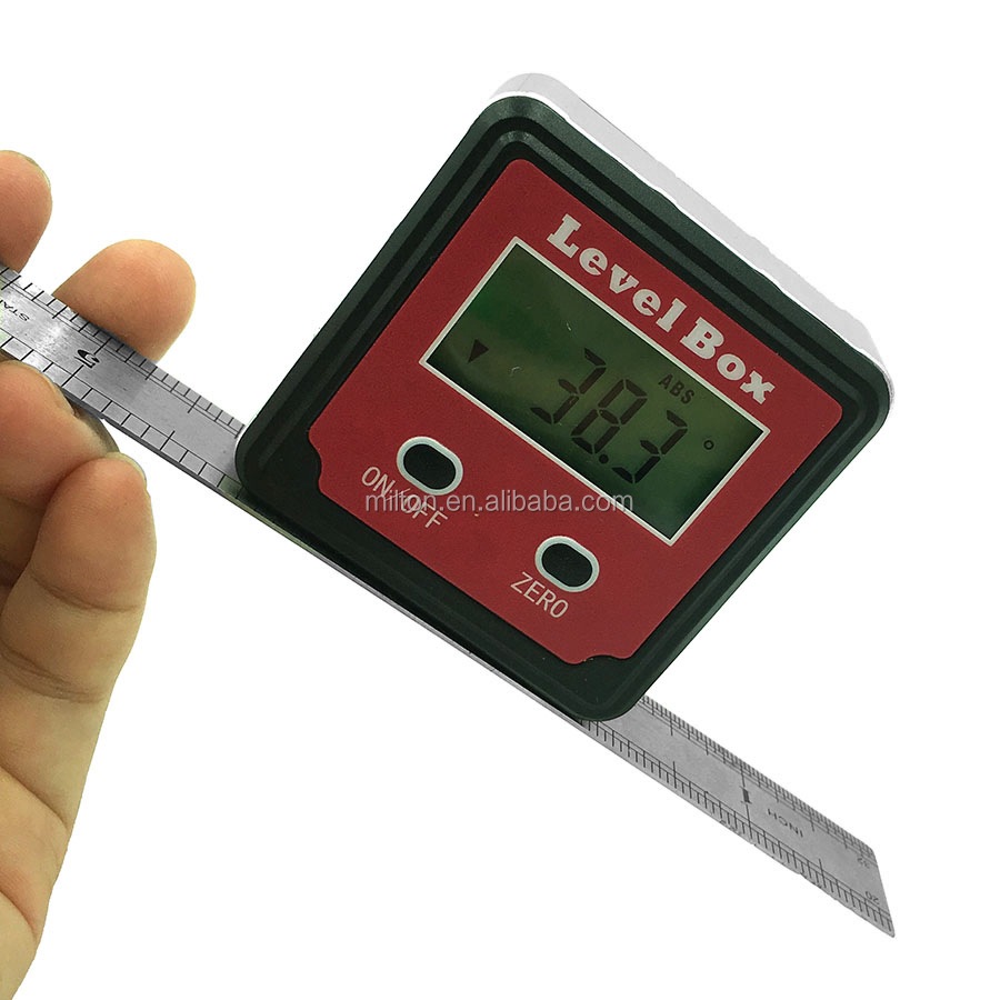 360 Degree Magnetic Digital Inclinometer Angle Meter Finder Protractor Tool