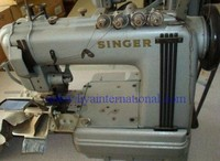 Used Second Hand Singer 302w206 4 Needle Cylinder Bed W/puller Waistband Industrial Sewing Machine For Sale