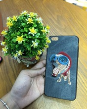 For iPhone 7 8 7plus Case ,Mutural Embroidery Animal Shockproof Case, Animal Design 3D Floral Soft Case for iphone 7 plus