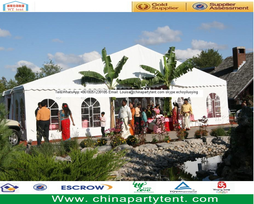 Outdoor white indian wedding tent marquee decorations for Decoration cost per m2