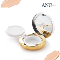 ANC good sale mass production promotion waterproof makeup compact powder Wholesale cosmetics round