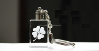3d laser crystal engraved key chains/key ring/ keychain/engraved key chains MH-00103