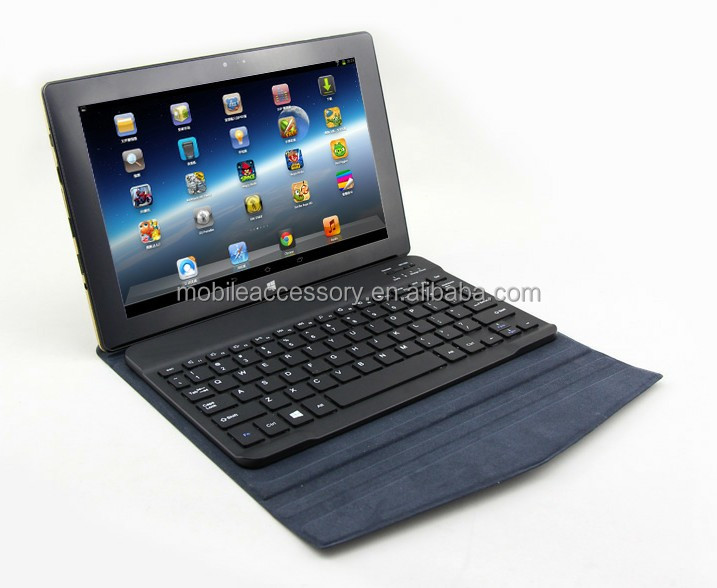 New arrival! transformer style detachable brushed leather bluetooth keyboard case for galaxy 2014 p600 10.1""