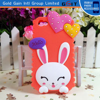 Cartoon Animals Silicone Rubber Gel Case Cover Skin For iPhone 5C