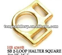 Solid Brass 2-Loop Halter Square