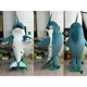 HI china factory custom blue shark mascot costumes for sales