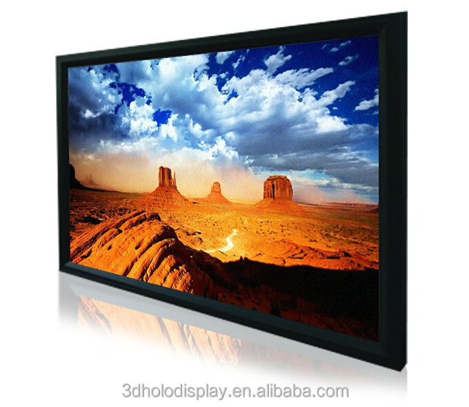 High Quality Fixed Frame Projector Screen with 4K Acoustically Transparent Fabric/Perforated Screen with 8/10/15cm Frame