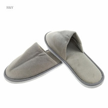 Concise style high quality hotel disposable gents bedroom slippers