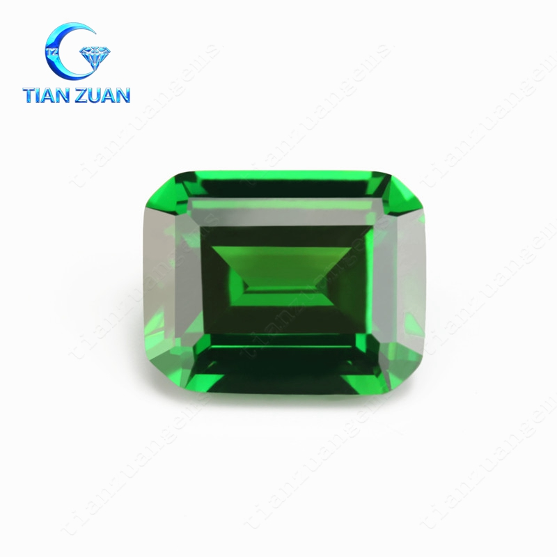 hot selling synthetic cz, emerlad cut cubic zirconia stone