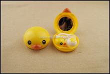 Promotional products duck shaped contact lenses box/custom made freshlook contact lenses/cheap contact lenses case from China