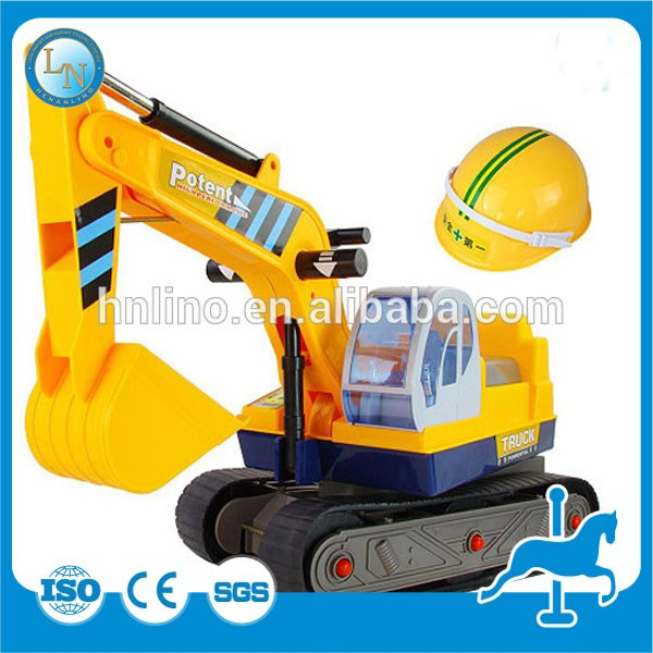 Used amusement park equipment for sale! China supplier amusement rides electric machine mini excavator toys for kids