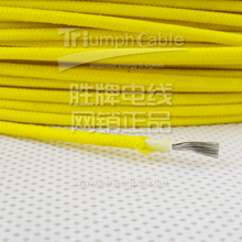 AWM style fiberglass braid silicone rubber insulation wire ul 3122 20 awg