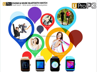 hot sell new fashion smart wear a bluetooth watch P3 UPRO -big memory can be inserted SIM card to make a phone call