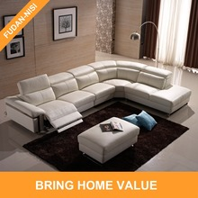 New design furniture electric recliner big corner sofa with ottoman