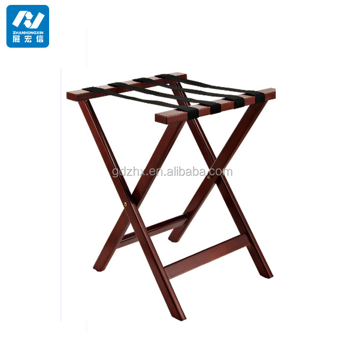 Hotel wooden luggage rack