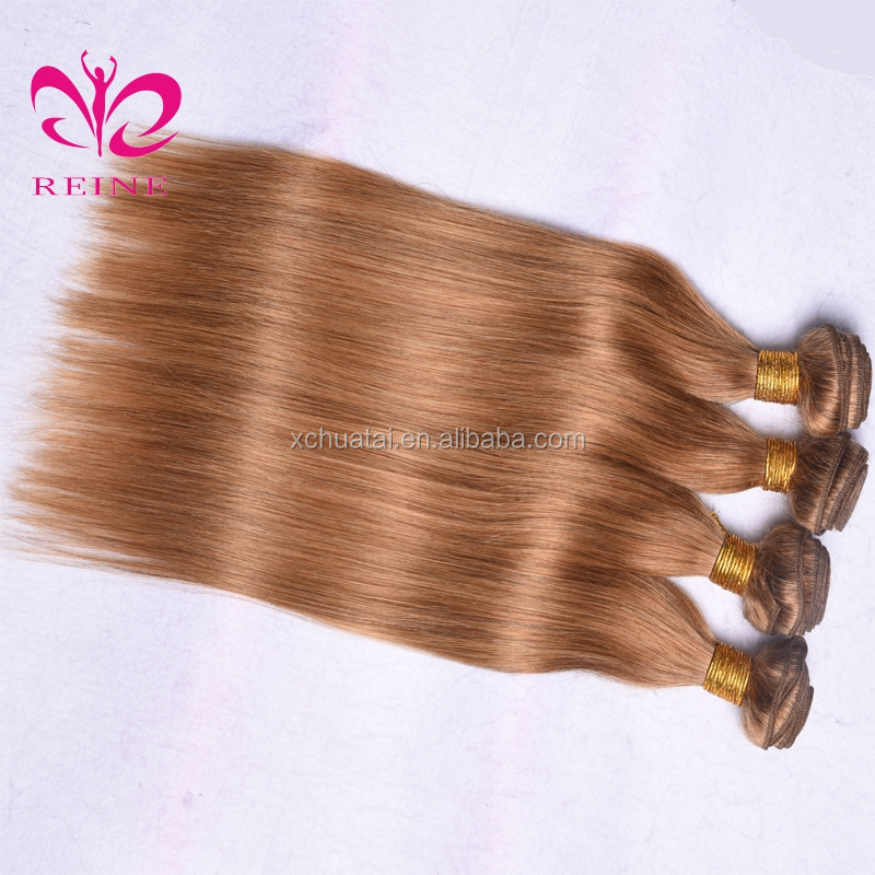 Golden Yellow Hair Color Honey Blonde Remy Indian Human Hair Straight