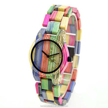 Newest Pictures Of Fashion Girls Watches Japan Movement Mix Colors Bamboo Quartz With Sr626sw Battery