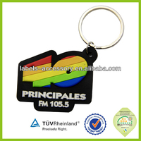 Cheap customized 2d/ 3d logo design plastic soft pvc key chain