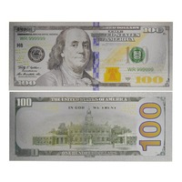New Product 100 dollar US America Colored Silver plated banknote of silver foil banknote bill gift for collection