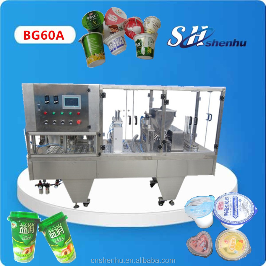 China original paper cup yogurt/juice/ice cream filling sealing machine