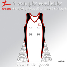 Healong Sublimation Transfer Women Netball Dresses 100% Polyester Netball Uniform