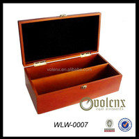 Customize handmade PU Leather Wooden Wine Packaging Gift Box Wine Bottle Carrier Case