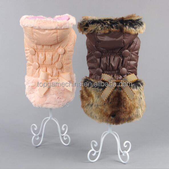 Pet Supplies Dog Cat Bowknot Coat Clothes Doggy Warm Soft Jacket Overcoat Apparel Dogs Cats Hoodies Clothing